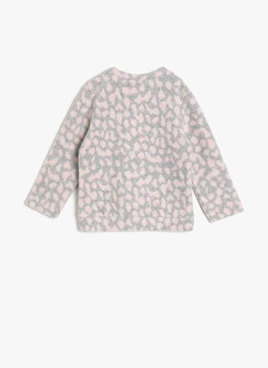 Koton Kids Pul Detaylı Sweatshirt Pembe